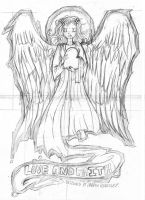 Angel T-shirt design. by LutesWarmachine