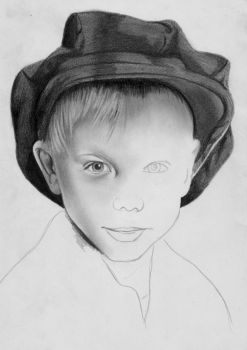 little boy with hat WIP 1 by Lorelai82