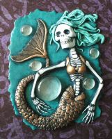 Dia de los Muertos Mermaid by Smilodonna