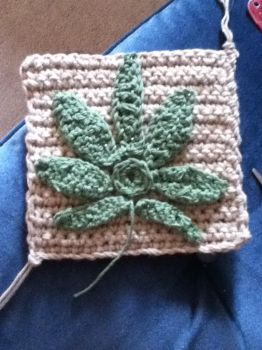 Crochet leaf2 by Clix69