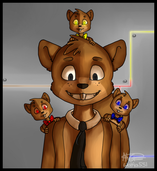 Chunkie and his sons by Wolfia551