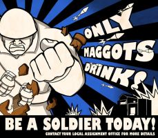 Only Maggots Drink tf2 poster by DotWork-Studio