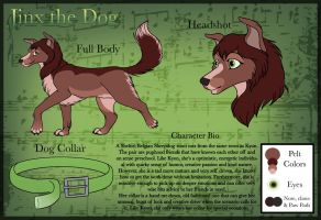 Jinx the dog Character Sheet by Devinital