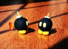 Mini Mario Bob-Omb Figurines by soPWNEDXcore