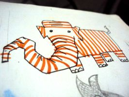 The Orange-striped Elephant by danum