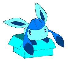 Glaceon in a Box by shinoahD