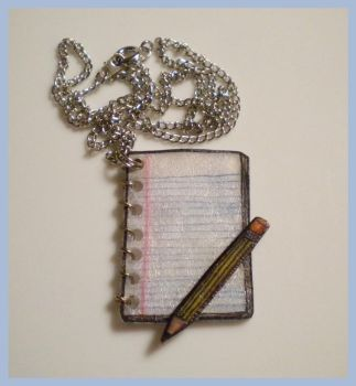 Writer's Canvas - Necklace by KateSkirmish