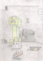 The creeper's victory by KingDiscord