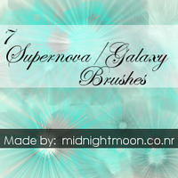 Galaxy -Supernova Gimp Brushes by LanthaGirly