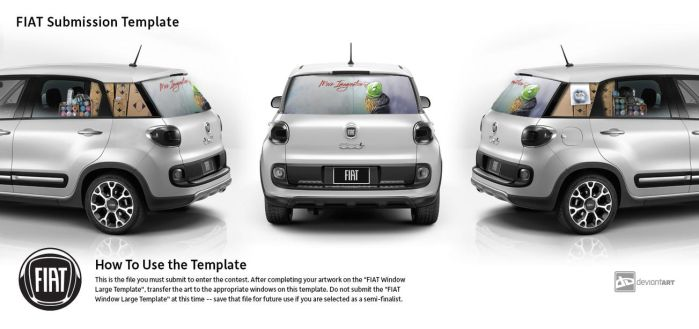 Fiat More Imagination -  The Street artist's 500L. by TheArtofBlouh