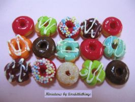 Miniature Donuts - assorted by ilovelittlethings