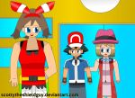 Ash, May and Serena get's follow outsider by scottytheshieldguy