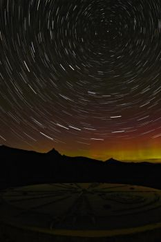 Northern Lights paired with star trails by SpringfieldShtos