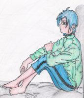 Sitting and thinking .:Jenny:. by SailorSun18