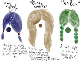 Hair Styles 1 by M0ssie