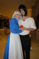 Howl and Sophie by scoldingspirit84