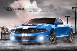 GT500 Mustang Concept yasidDESIGN front by yasiddesign
