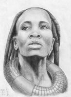 African woman by BeliyLis