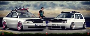 VW Passat B5 vs VW Golf IV by tuninger