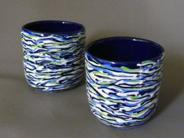 Cups (lined series) by Burl-C
