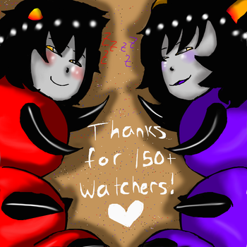 Thanks for a 150+ watchers~! by evillovebunny500