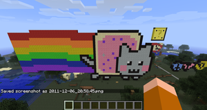 Nyan Cat in Minecraft by branduboga