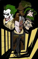 Arkham Rogues Hallway by ScreenDevil360