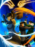 Korra Mako and Bolin Season 2 Poster by SolKorra