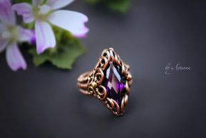 Ring Violet heaven of Marquise by AstannaJewelry