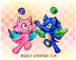 Chao high five! by Azurelly