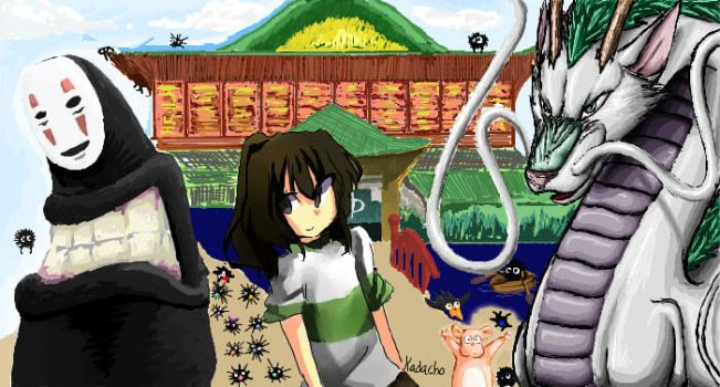 Spirited Away- iScribble by chocolatewolf2000