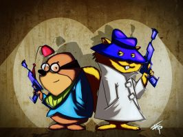 Retro: Secret Squirrel and Morocco Mole by Bathiel