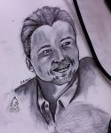Leonardo DiCaprio - in Ink and pencil by Lokamie
