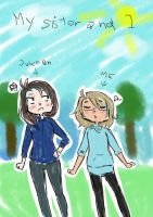 ((My sister and I)) by Ask-SanMarino