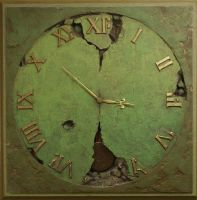 The Clock VI   110x110x6 cm by Yaro42
