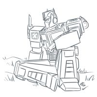Optimus Prime by iloverichard