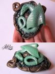 Dragon with an egg by Melian-art