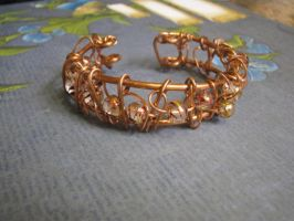Wire Wrapped Copper Cuff beads by bcainspirations