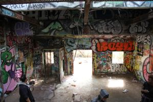Graffiti House Inside Front by NickBentonArt