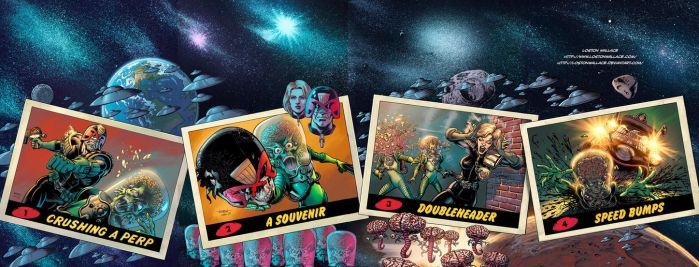 MARS ATTACKS JUDGE DREDD Poster Complete by LostonWallace