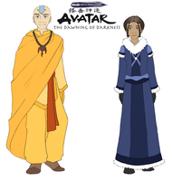 A:DoD, Older Aang and Katara by Avatar-The-DoD
