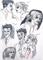 Harley and Joker headshots by Magzdilla