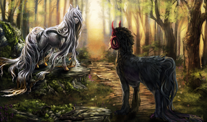 Meeteng in the forest by Arkras