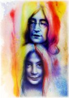 John Loves Yoko by wendeebee