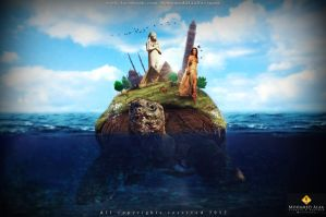 Egyptian Turtle (Photo Manipulation Turtle) by mokamido31
