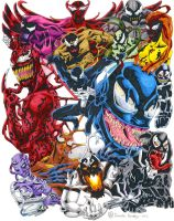 Symbiote Collage (Color) by HuntedComics
