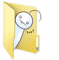 Sup guy folder icon by Rainbow-fiedKitty