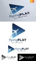 Flying Play Logo by Logosmania