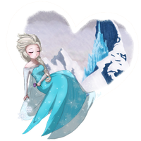 Frozen- Elsa - Frozen Heart by TropicalSnowflake