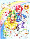 Rainbow Fall by Colorful--Melody
